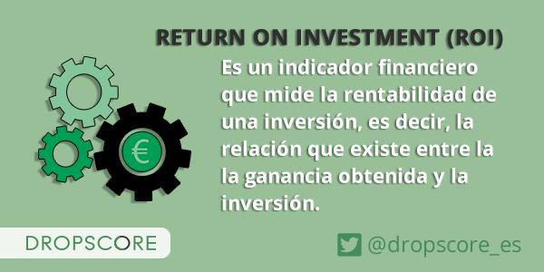 En esta imagen se define el concepto de ROI o retorno de la inversión